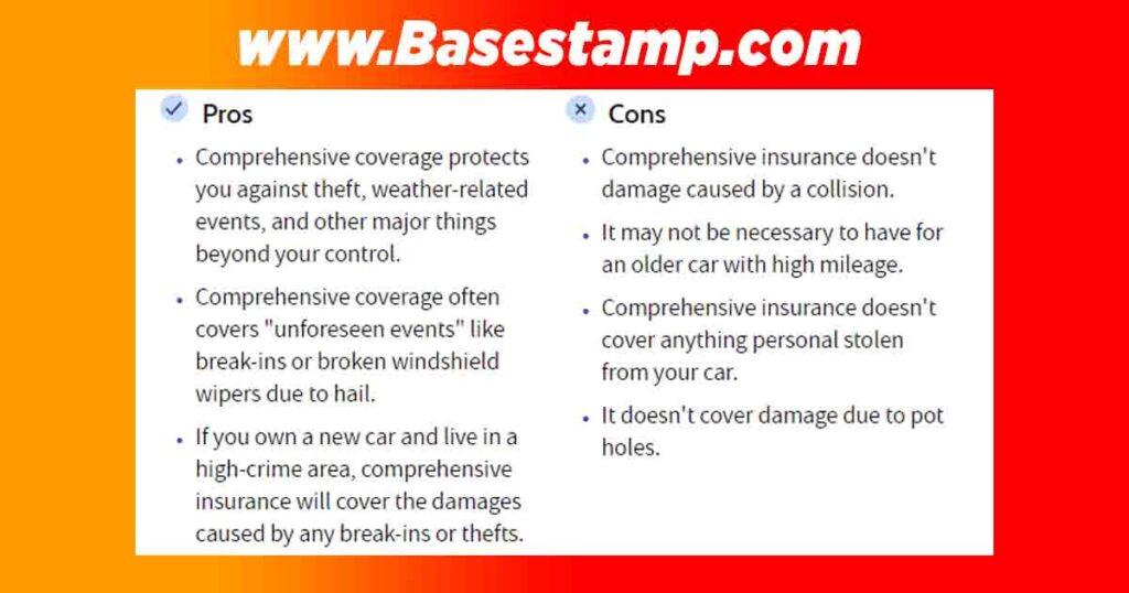 Advantages and Disadvantages of Comprehensive Insurance
